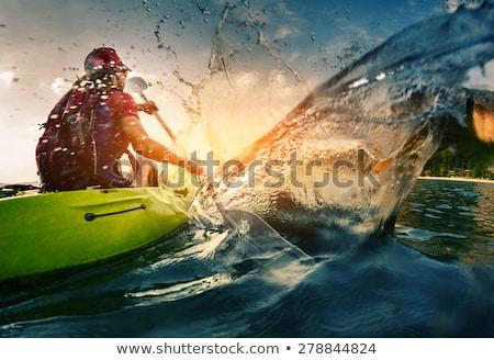 Kajak oceaan illustratie sport zee grappig Stockfoto © adrenalina