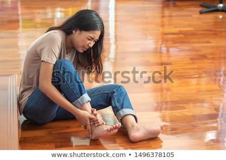 Lány baleset cédula illusztráció háttér fekete Stock fotó © bluering