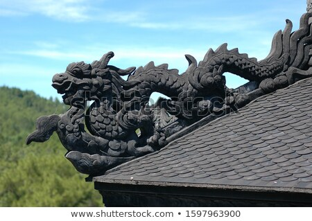 Hue, Vietnam. Stone dragon decoration Stock photo © romitasromala