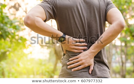 backache low back pain. man health and medicine Stock photo © studiostoks