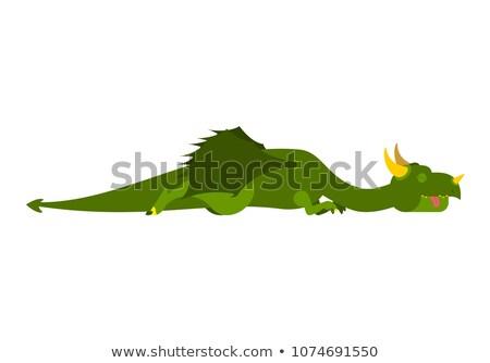 Adormecido dragão mítico monstro feliz Foto stock © popaukropa