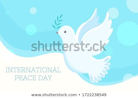 Flying · голубь · иллюстрация · группа · небе · любви - Сток-фото © ussr
