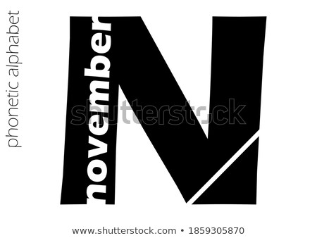 Letter N crossword concept Stock photo © bluering