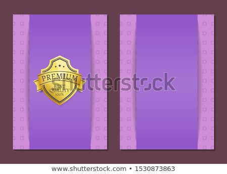 Quality Award Premium Brand 100 Seal Label Poster Stock photo © robuart