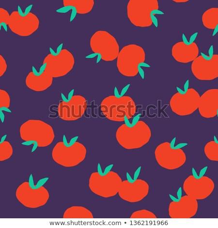 domates · model · doku · olgun · kırmızı - stok fotoğraf © popaukropa