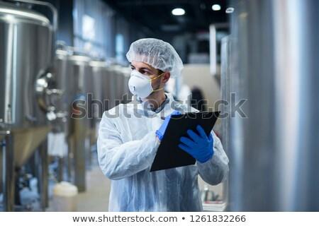 Stockfoto: Apotheek · industrie · fabriek · man · werknemer · kleding
