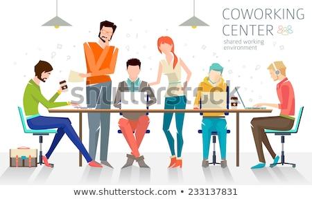 employment   set of flat design infographics elements stock photo © decorwithme