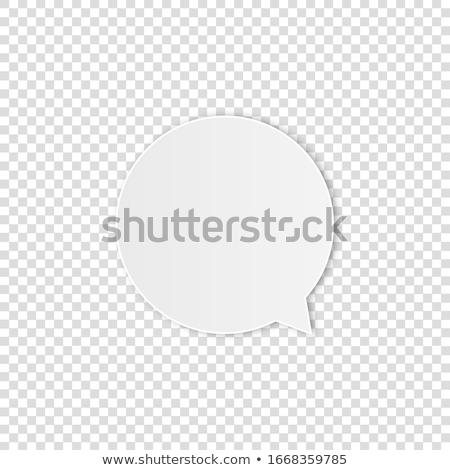 Konuşma boş kağıt karikatür örnek dikkat grafik Stok fotoğraf © cthoman