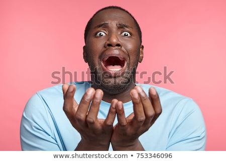 man screams. panic Stock photo © rogistok