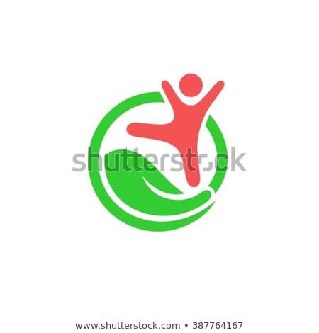 Anaokulu simge çocuklar bakım logo vektör Stok fotoğraf © blaskorizov