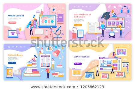 Online Source and Library, Self Study Tutorial Stock photo © robuart