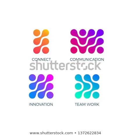 Zdjęcia stock: Placu · łańcucha · link · wektora · logo · ikona