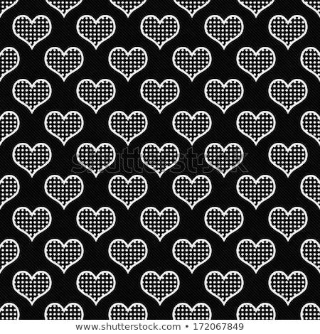 Absztrakt végtelen minta fehér szívek pöttyös Valentin nap Stock fotó © Imaagio