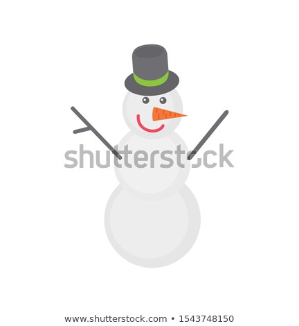 Snowman with Grey Top Hat and Carrot Instead Nose Stock photo © robuart