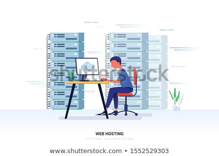 Server gegevens web hosting geïsoleerd mobiele Stockfoto © kyryloff