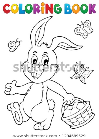 Coloring book Easter rabbit topic 1 Stock photo © clairev