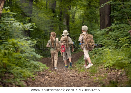 Group of scout in forest Stock photo © bluering