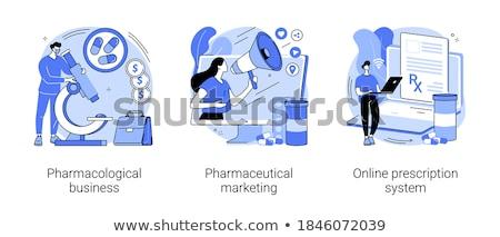 Online prescrizione minuscolo persone medico medicina Foto d'archivio © RAStudio