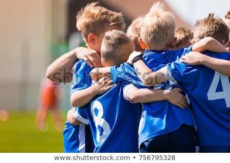 Group Of Children In Soccer Team. School Football Coach Stock photo © matimix