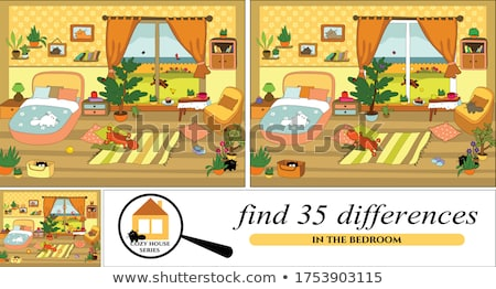 finding differences game with cartoon dogs Stockfoto © izakowski