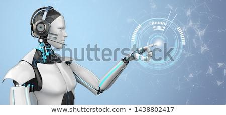 Callbot Robot Headset Stock photo © limbi007