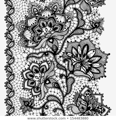 Vintage lace ornamented card Vector. Victorian Royal texture. Fl Stock photo © frimufilms