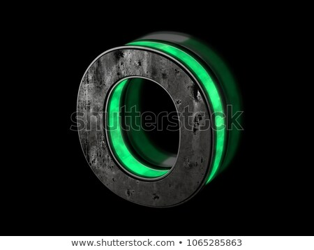 black outline font letter o 3d stock photo © djmilic