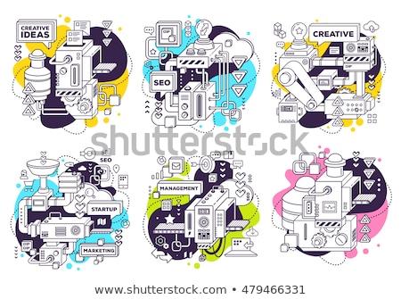 Energy generating systems icons set Stock photo © netkov1