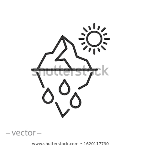 Iceberg In Ocean Global Warm Vector Thin Line Icon Stock photo © pikepicture
