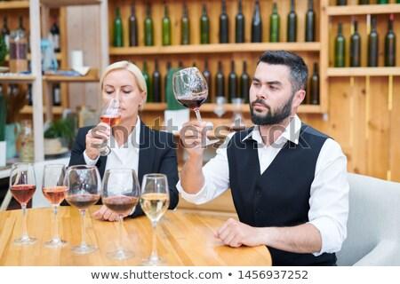 Jungen ernst männlich Kollege Geruch Geschmack Stock foto © pressmaster