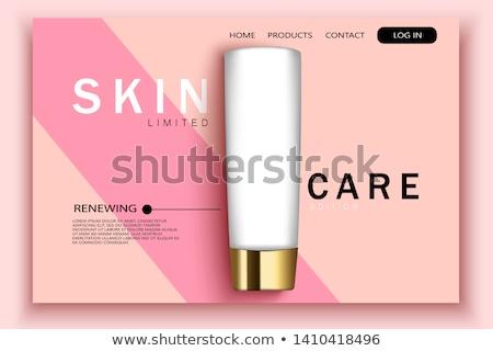 Envases diseno aterrizaje página promoción Foto stock © RAStudio