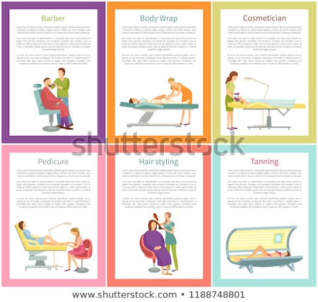 Hair Styling Tanning Process Posters Text Vector Stock photo © robuart