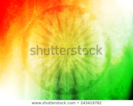 indian flag and map independence day background Stock photo © SArts