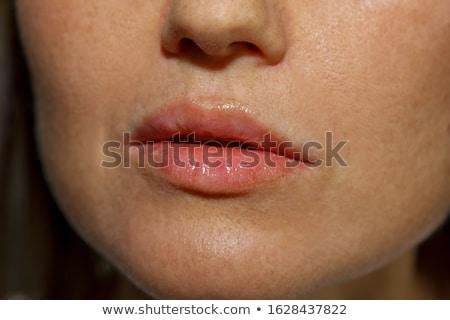 zarif · kadın · eller · pembe · manikür · çivi - stok fotoğraf © serdechny