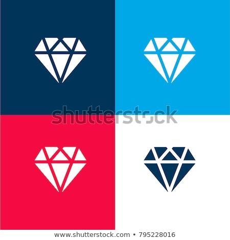 zwarte · magenta · Blauw · diamant · vorm · vector - stockfoto © cidepix