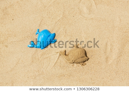 sand shape made by whale mold on summer beach Stock photo © dolgachov