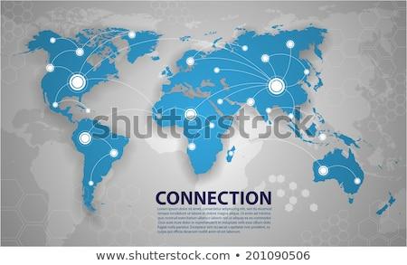 国際ビジネス 地図 ベクトル 笑みを浮かべて 労働 一緒に ストックフォト © robuart