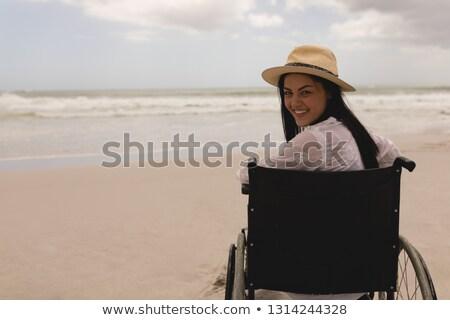 Discapacidad feliz sombrero sesión Foto stock © wavebreak_media