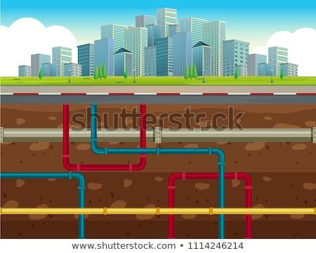 Fábrica edificio subterráneo agua diseno arte Foto stock © bluering