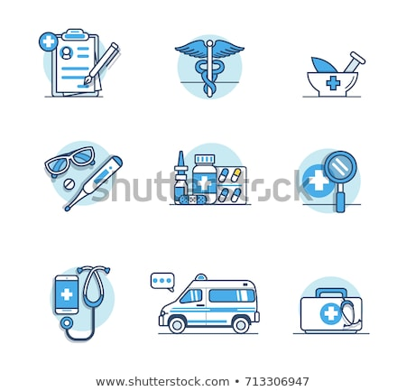 Medical home kit icon. Medicine equipment. Vector illustration Stock photo © Imaagio