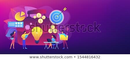 Projektu banner wykonawczej kierownik planowania Zdjęcia stock © RAStudio