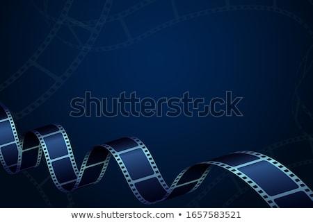 filme · ícone · azul · vidro · isolado · branco - foto stock © cidepix