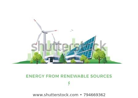 Hernieuwbare energie zakenlieden schone hernieuwbare elektrische energie Stockfoto © RAStudio