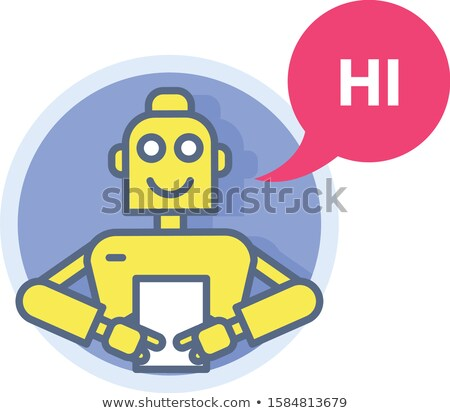 Chatbot - robot prompter with list sheet, automatic virtual assi Stock photo © gomixer