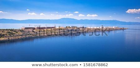 LNG terminal on Krk island panoramic view Stock photo © xbrchx