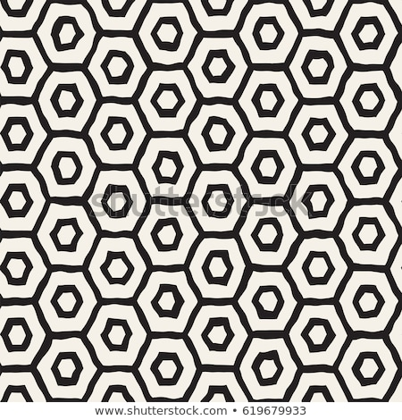 hand drawn honeycomb background. black and white pattern with hexagon lattice background. Stock Vect Stock photo © kyryloff