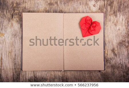 Napló oldal nyitva valentin nap papír könyv Stock fotó © nomadsoul1