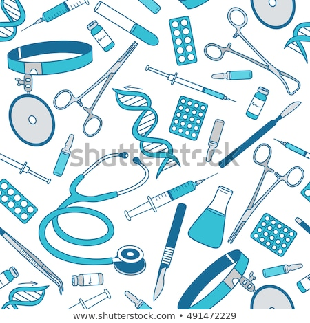 Neurology Medicine Seamless Pattern Vector Stock photo © pikepicture