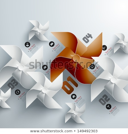 Paper windmills decoration pattern 3D Stock photo © djmilic
