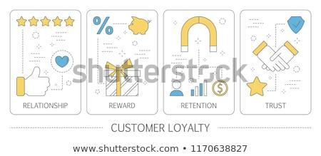 Bağlılık program müşteri afişler renkli hat Stok fotoğraf © -TAlex-